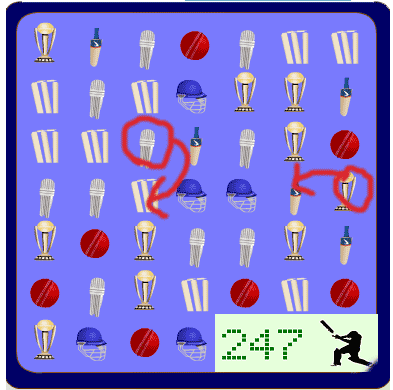 Cricket Match puzzle: screenshot