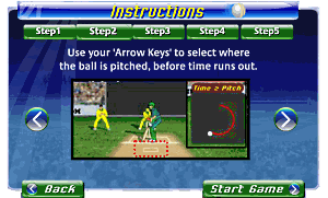 Game Instructions screen