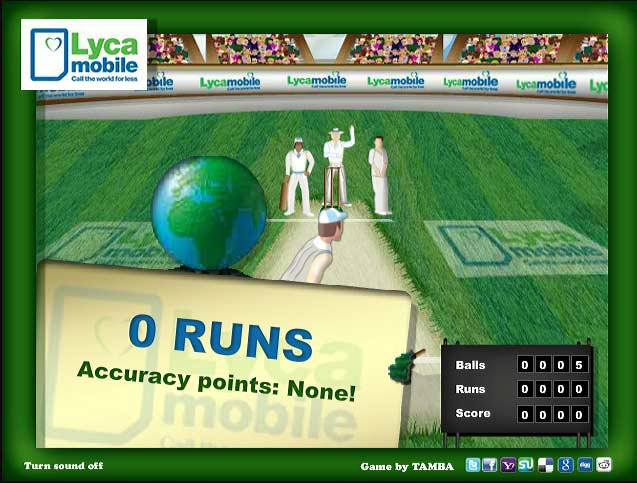 Hit For Six Cricket Game scene