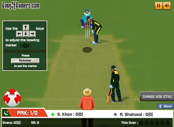india vs pakistan: bowling gameplay