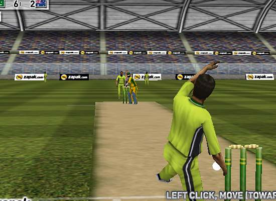 3d cricket bowling session